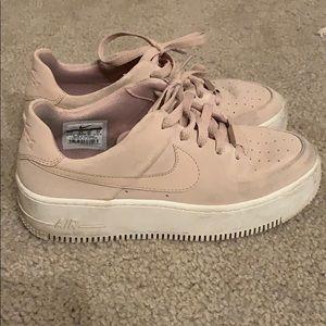 Pink Nike AF1 Sneakers